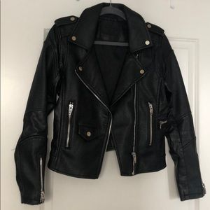 Blank NYC Faux Leather Jacket, Size Small